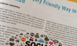 Brain Injury Friendly Way to Socialize: My Article in March 2014 OBIA Review